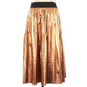 NWT LuLaRoe Elegant Jill Skirt Small Copper Pleats
